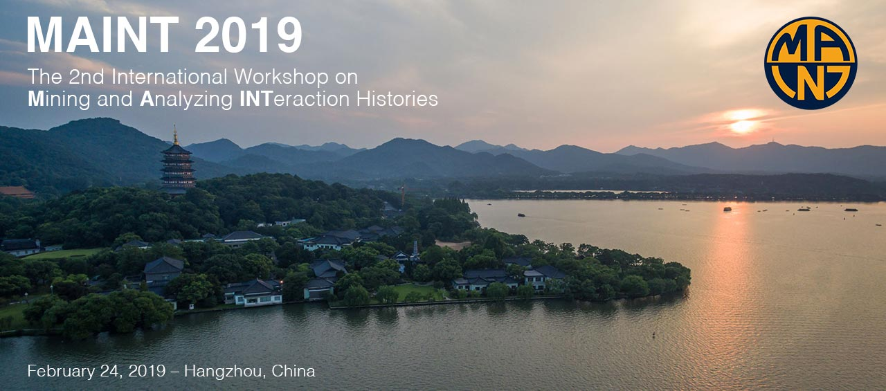 The Second International Workshop on Mining and Analyzing Interaction Histories (MAINT 2019)